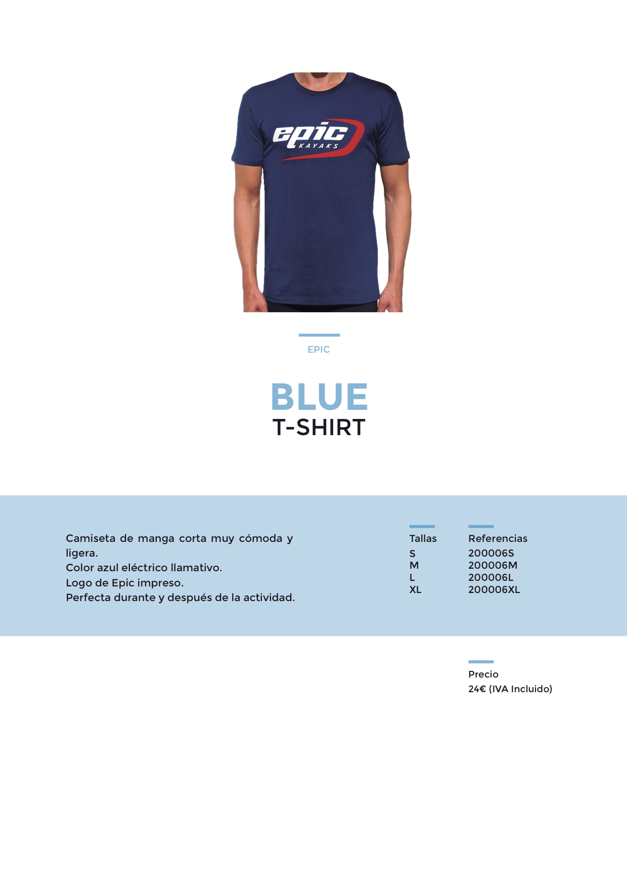Camiseta Azul Epic
