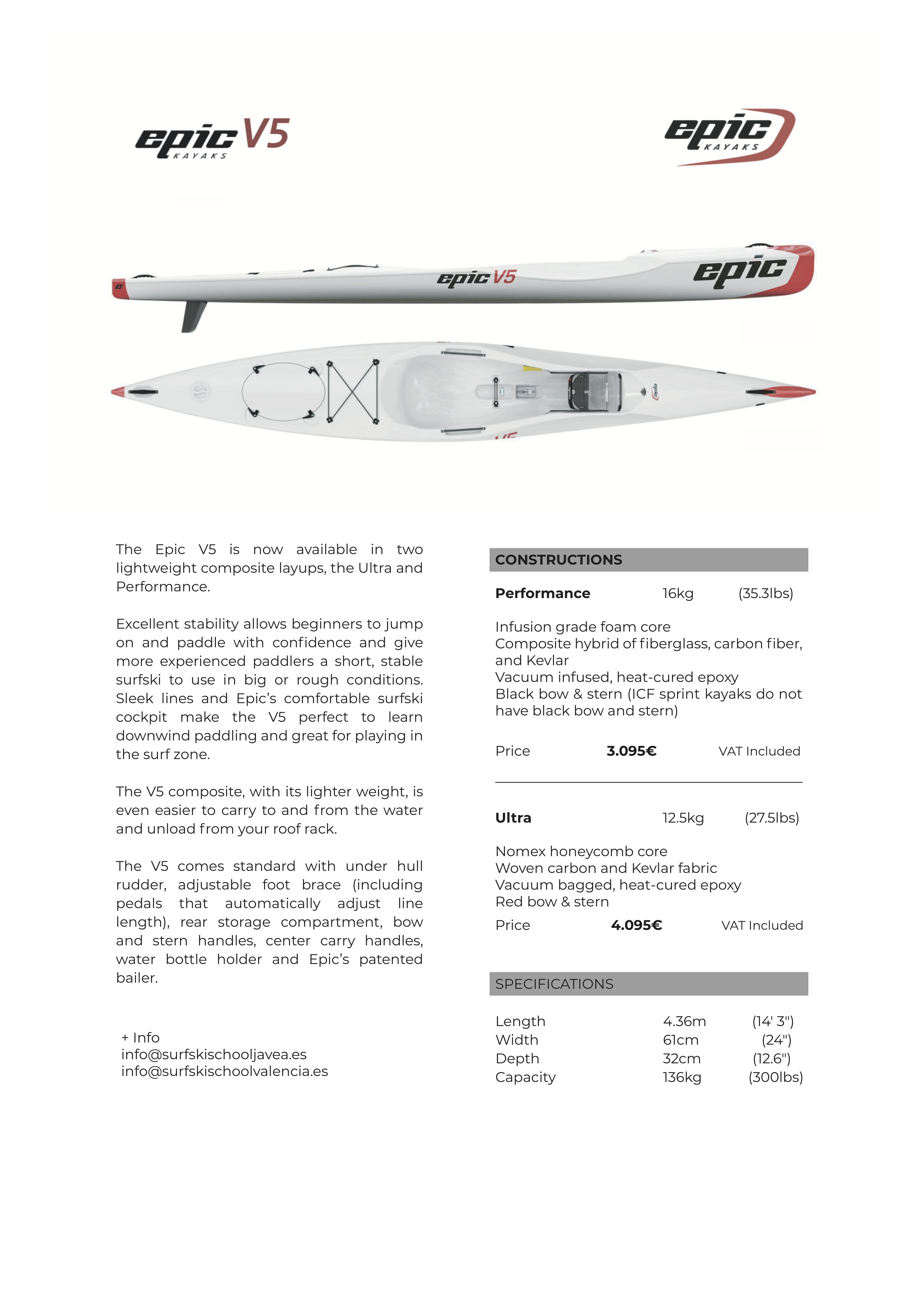 surfski v5 composite