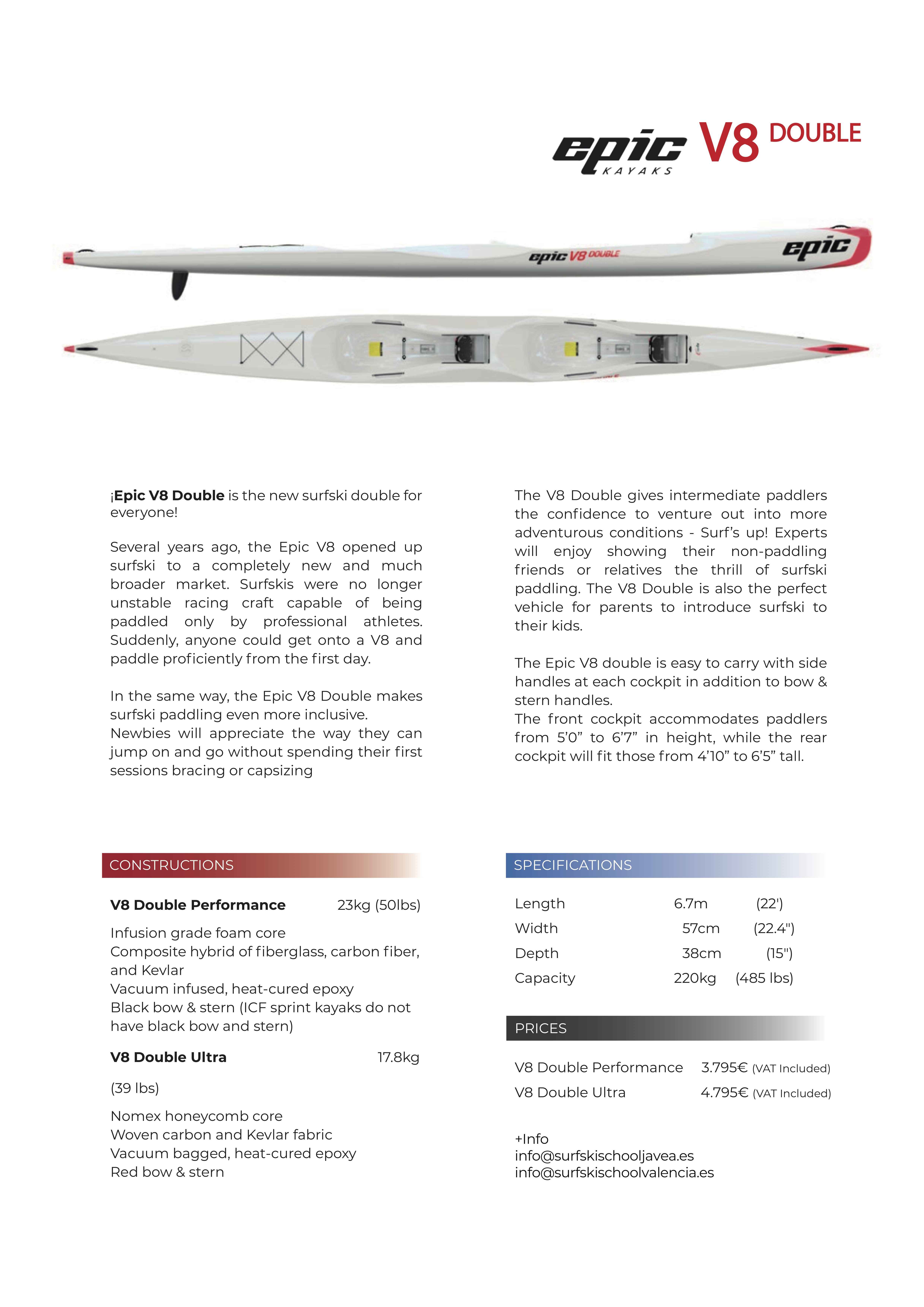 surfski v8 double